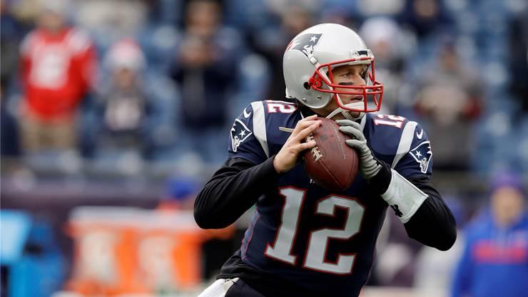 Favorit: Fünf Titel hat Quarterback Tom Brady mit den New England Patriots bereits gewonnen.
