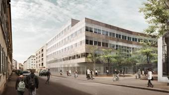 So soll das Gebäude mal aussehen: Visualisierung des Siegerprojekts für das neue Zentrum für Zahnmedizin.