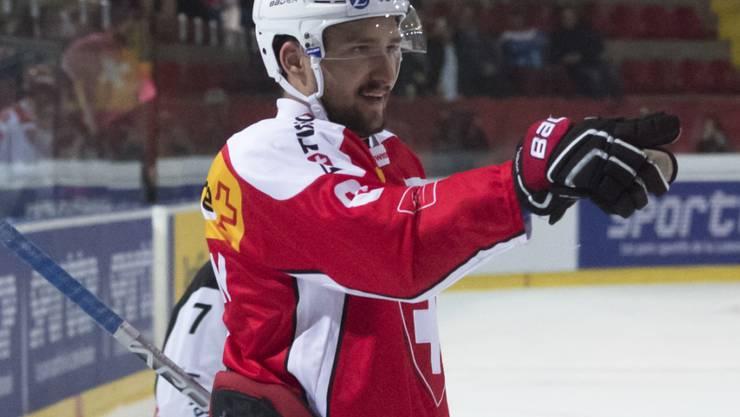 Vincent Praplan schoss beide Tore zum 2:1 gegen Russland
