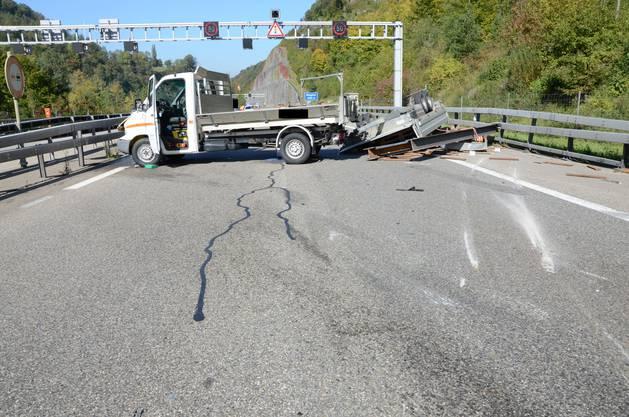 Der Fahrer erlitt einen gewaltigen Schock, doch keine Verletzungen.