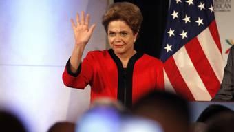Sie und ihre Regierung wurden vom US-Geheimdienst ausgespäht: Brasiliens Präsidentin Dilma Rousseff, hier beim Besuch in den USA von Anfang Woche (Archiv)