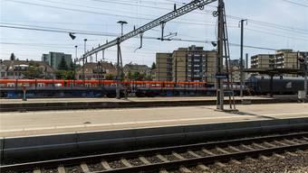 Blick Richtung südlicher Teil Bahnhof Solothurn: Dieser Teil soll im Rahmen des Agglomerationsprogramms 3. Generation eine Aufwertung erfahren.