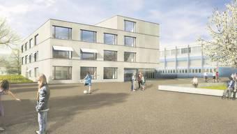 Mit seinem kompakt-modernen Neubauprojekt für das Oberstufenschulhaus hat das Architektenteam Gautschi Lenzin Schenker überzeugt.