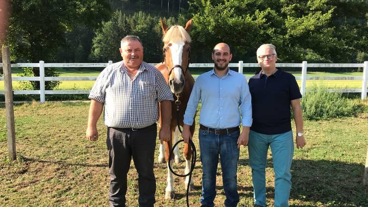 Das OK der 1. CH-Pferde-Gala im Moos Balsthal. v.l. Heinz Mägli, Hector Casal, Ronald Biehler