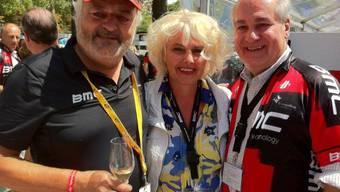 Andy Rihs mit den Bangas an der Tour de France 2011