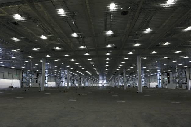 So sehen die Hallen im Erdgeschoss aus