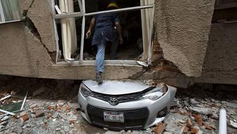 Eine beim Erdbeben im September 2017 zerstörte Wohnung in Mexiko-Stadt. (Archivbild)