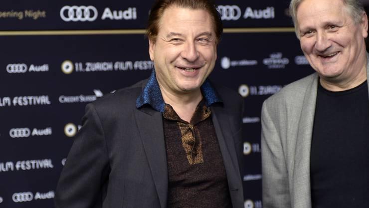 Beat Schlatter - hier zusammen mit Schauspieler Andrea Zogg beim Zurich Film Festival - hätte gerne Nachwuchs gehabt. (Archivbild)
