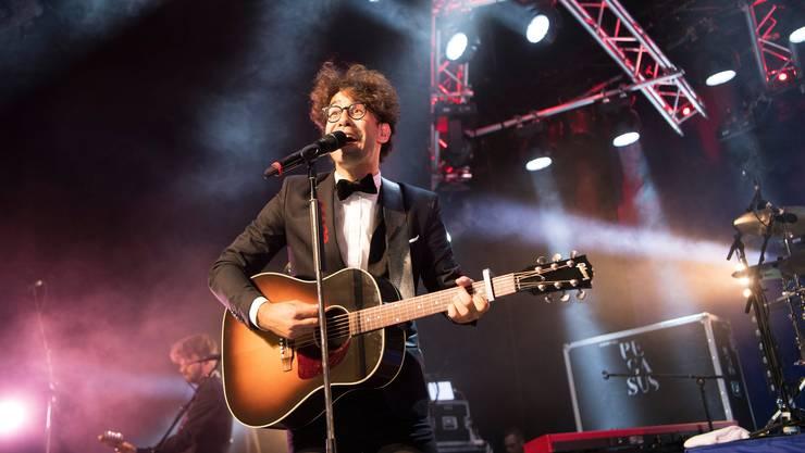 Noah Veraguth von Pegasus bei einem Konzert.