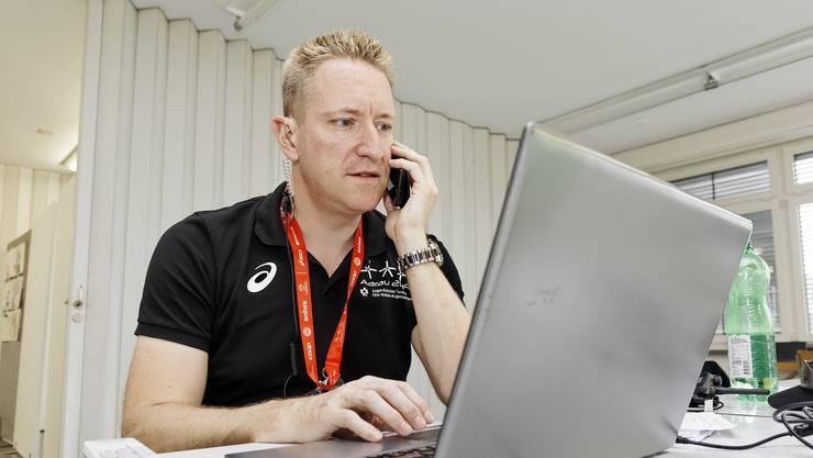 Gesamtwettkampfleiter Thomas Jäger hat während dem Turnfest alle Hände voll zu tun.