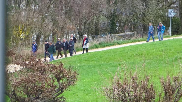 Einfach die Wandergruppe Felsenheimer zum Marsch zum Wilden Mann