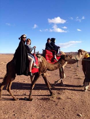 Die Filmdiva nutzte den Trip nach Marokko für einen Ausflug mit ihren Kindern zu Thanksgiving.