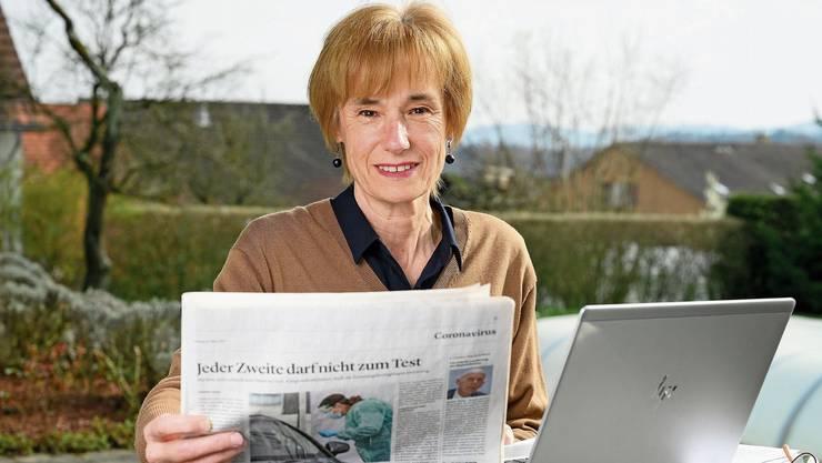 Ruth Humbel fühlt sich privilegiert, weil sie einen Garten vor dem Haus hat. Für Menschen ohne Balkon oder Garten müsse diese Zeit besonders schwer sein.