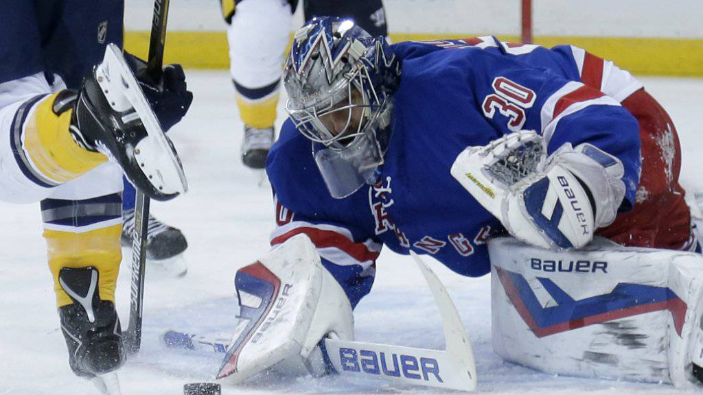 Henrik Lundqvist führte die Rangers zum Sieg