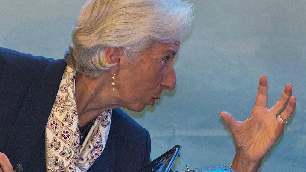 IWF-Chefin Christine Lagarde fordert höhere Ausgaben für Forschung beim Symposium am Rande des G20-Treffens im chinesischen Chengdu.