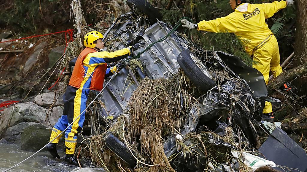 Zahl der Toten in Japan steigt nach Taifun auf über 60