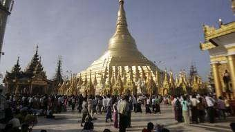 Die Shwedagon Pagode von Rangung: Buddhisten pilgerten in der vergangenen Woche ans Lichterfest.