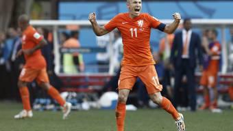 Arjen Robben spielt bislang eine grossartige WM in Brasilien.