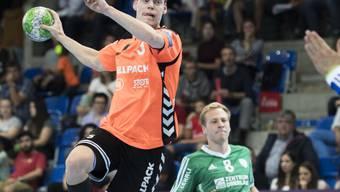 Manuel Liniger war mit zwölf Treffern der beste Torschütze von Kadetten Schaffhausen