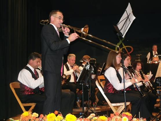 Dirigent Albert Herzog ist auch ein brillanter Posaunist
