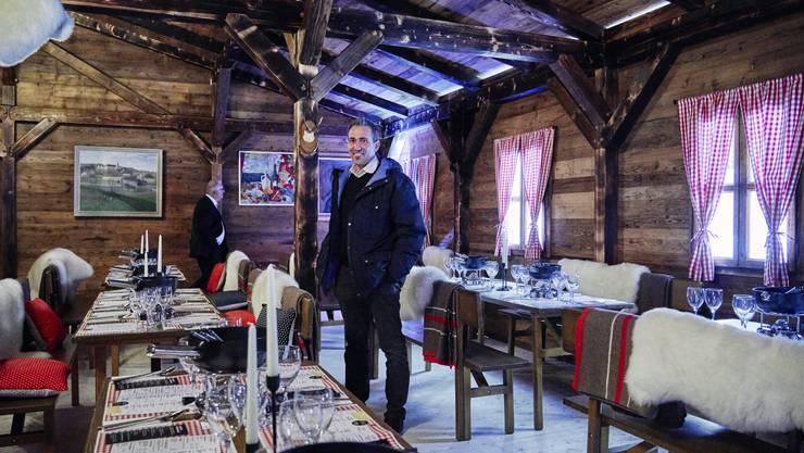Tägi-CEO Marco Baumann im Fondue-Chalet.