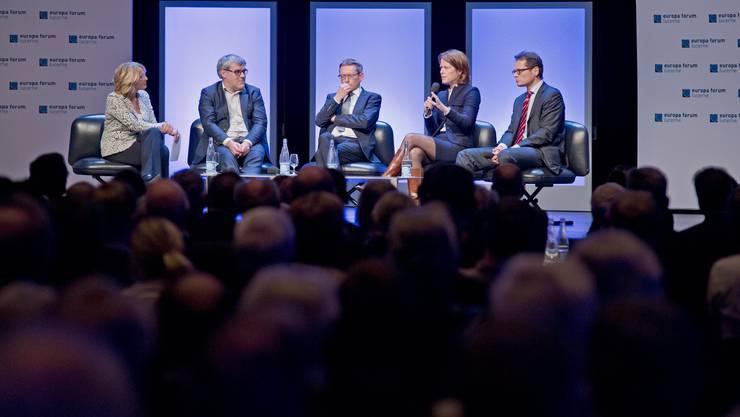 Eine Podiumsdiskussion des Europa Forums Luzern mit vielen Menschen im Luzernersaal des KKL wie hier im Jahr 2016 wird es in diesem Jahr nicht geben.
