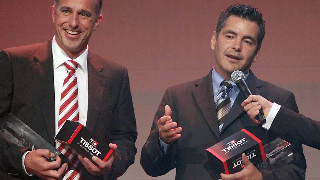 Brent Reiber (rechts) und Swiss Ice Hockey gehen nach 22 Jahren getrennte Wege