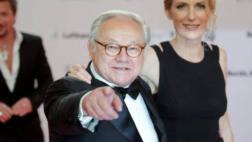 Seit bald 25 Jahren verheiratet - und selbstverständlich beide berufstätig: Verleger Hubert Burda (Mitte) und «Tatort»-Schauspielerin Maria Furtwängler (Archiv).