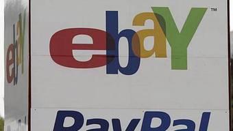 Logos von ebay und dem Zahlungssystem PayPal