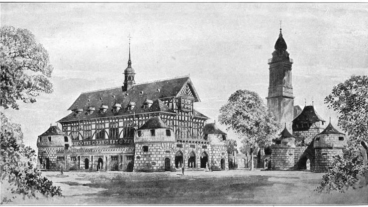 Dieses «Muttitürmli-Riegelbau»-Projekt von Alexander Koch erhielt 1895 vernichtende Kritik.