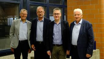Regionalplaner Heinz Schröder (2.v.l.) wurde von allen ZPL-Präsidenten verabschiedet, mit denen er in fast 30 Jahren zusammengearbeitet hat: Otto Müller (v.l.), Roger Bachmann und Willy Haderer.