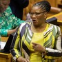 Die Parlamentsvorsitzende Thandi Modise in der Nationalversammlung in Kapstadt. Keystone