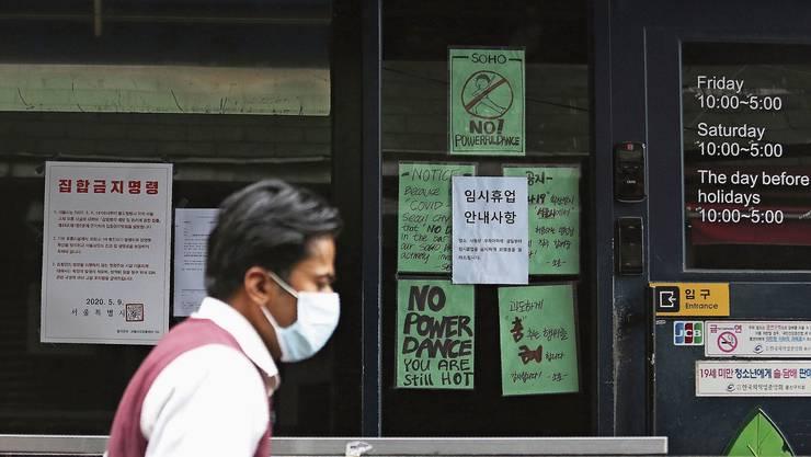 Der «King»-Club im Seouler Ausgehviertel Itaewon könnte zum Ursprungsort einer zweiten Coronawelle werden.Der «King»-Club im Seouler Ausgehviertel Itaewon könnte zum Ursprungsort einer zweiten Coronawelle werden.