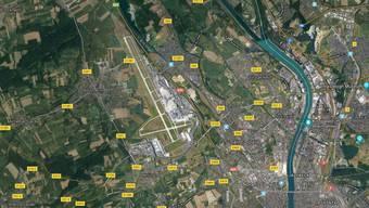 Am EuroAirport bei Basel kam es zu einer Sperrung, weil ein Privatflugzeug brannte.