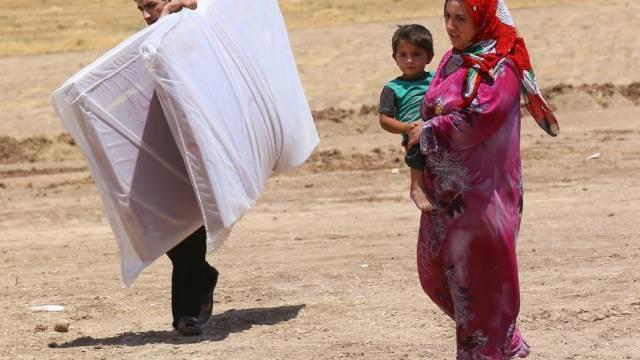 Irakische Flüchtlingsfamilie aus Tal Afar am Dienstag dieser Woche