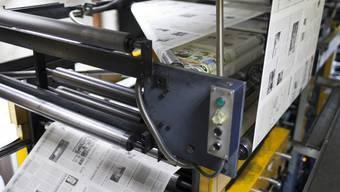 Bild einer Maschine der Druckerei Reinhardt Druck AG.