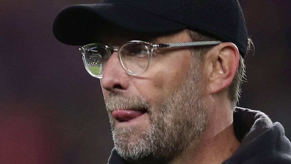 Liverpools Coach Jürgen Klopp bringt das 0:3 in Barcelona nicht ins Grübeln