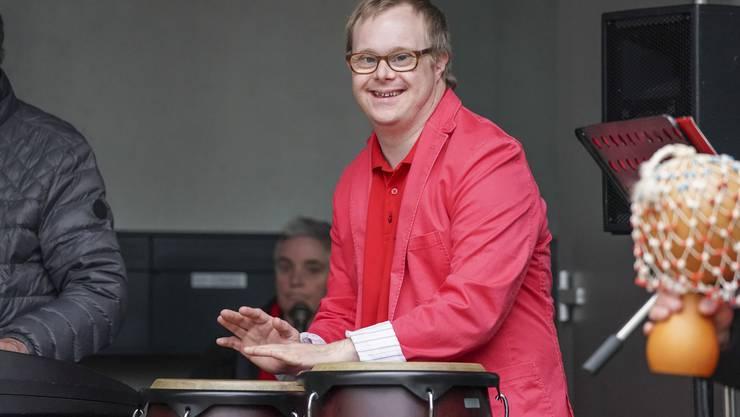 Die Insieme Musigbänd am 17. Mai 2019 beim Zentrum für körperbehinderte Kinder in Dättwil.