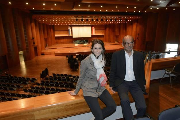 Sophie Lamon und Olivier Carrard vom OK im Auditorium Stravinski.
