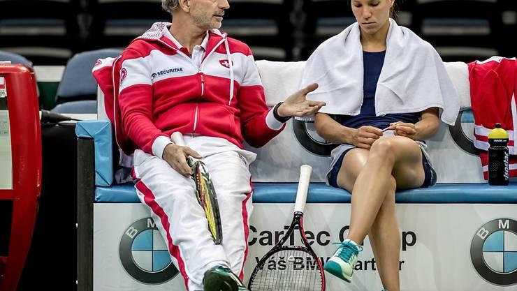 Heinz Günthardt und Viktorija Golubic treffen in der 1. Runde im Fed Cup 2020 auf Kanada