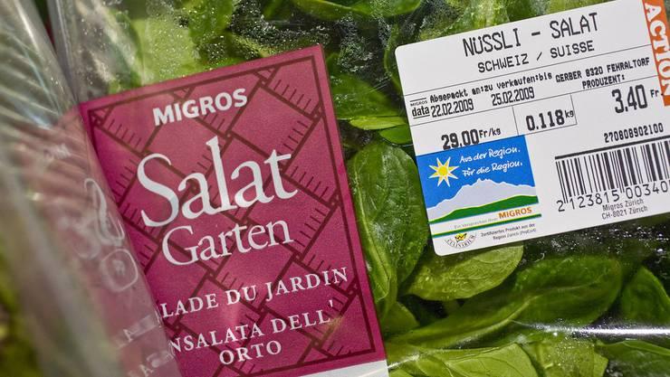 """Die Bio-Produkte legten um sechs Prozent zu, auch das Label """"Aus der Region. Für die Region"""" erfreut sich weiterhin grosser Beliebtheit."""