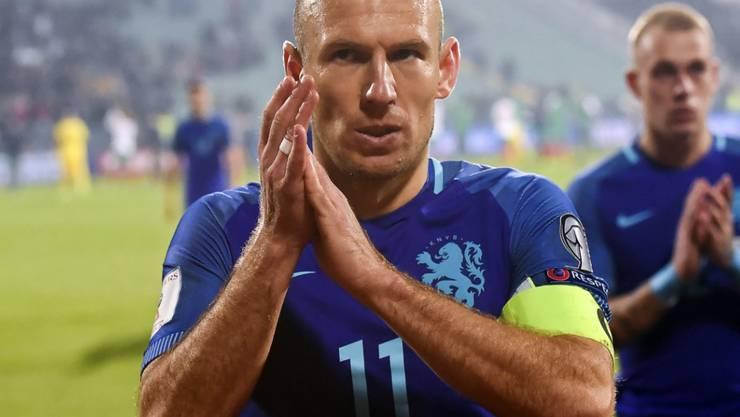 Mit den Niederlanden unter Druck: Captain Arjen Robben