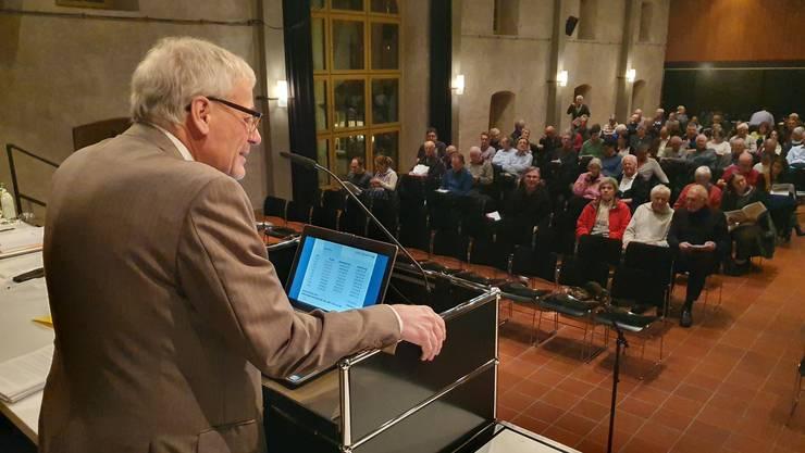 Auch Stadtpräsident Kurt Fluri, in der Vergangenheit Steuersenkungsgelüsten oft abgeneigt, war für eine Reduktion von 110 auf 107 Prozent.