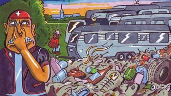 Wegen dieses Plakats gegen einen Transit-Platz für Fahrende wurde der Basler Polizist verurteilt.