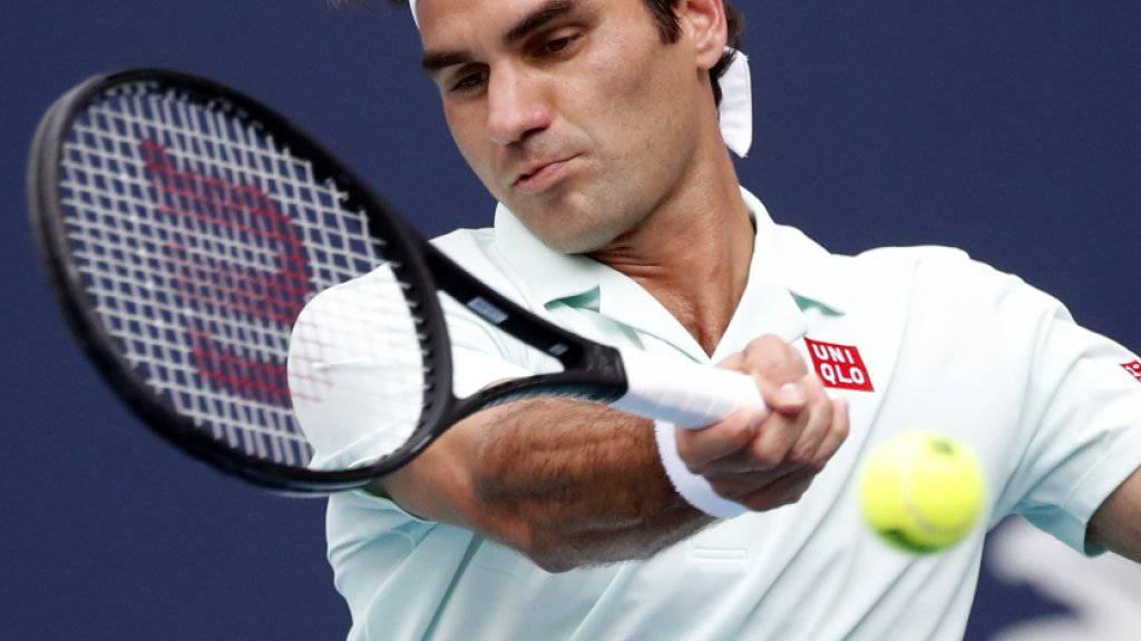 Vom Tennis- in den richtigen Zirkus: Roger Federer.