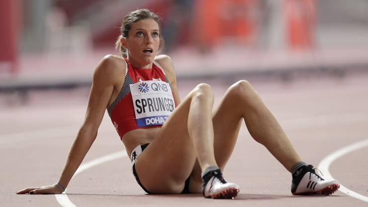 Lea Sprunger nach ihrem Vorlauf an der WM wieder optimistischer.