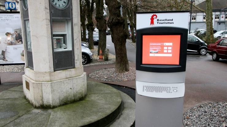 Die Infosäule in Liestal bietet einen 24-stündigen Gratis-Service.  ale