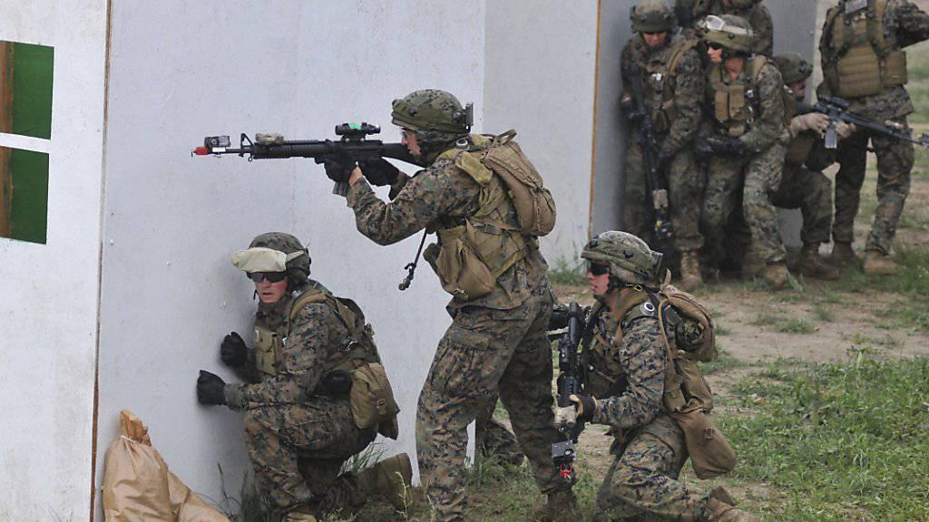 """Soldaten bei der letztjährigen """"Rapid Trident""""-Übung in der Ukraine. (Archiv)"""