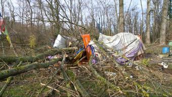 Der starke Wind entwurzelte Bäume und sorgte für Verspätungen am Zürcher Flughafen. In Riehen bei Basel forderte der Sturm sogar ein Todesopfer.