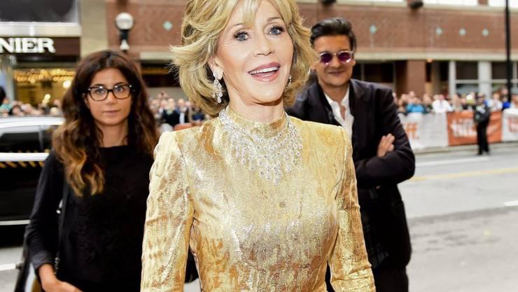 """In den 80er Jahren ist es passiert: Jane Fonda - sie stand damals für """"On Golden Pond"""" vor der Kamera - ging mit Michael Jackson nackt baden (Archiv)."""
